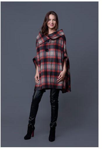 15 CAPE feminine: pentru un look deosebit: Jacheta in carouri din lana DonaKyrosJST