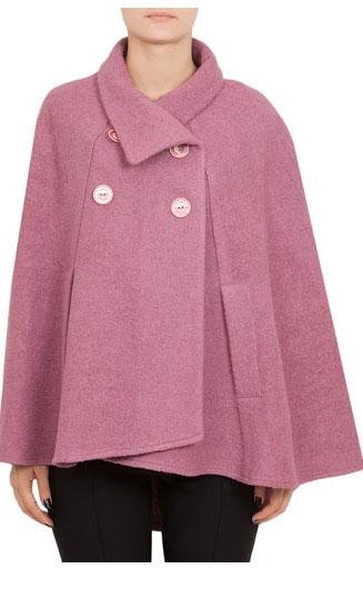 15 CAPE feminine: pentru un look deosebit: Pelerina Modas ciclam din lana
