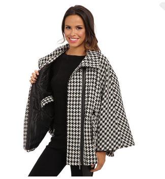 15 CAPE feminine: pentru un look deosebit: Calvin Klein Asymmetrical Zip Front Belted Cape