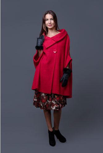 15 CAPE feminine: pentru un look deosebit: Jacheta rosie din lana