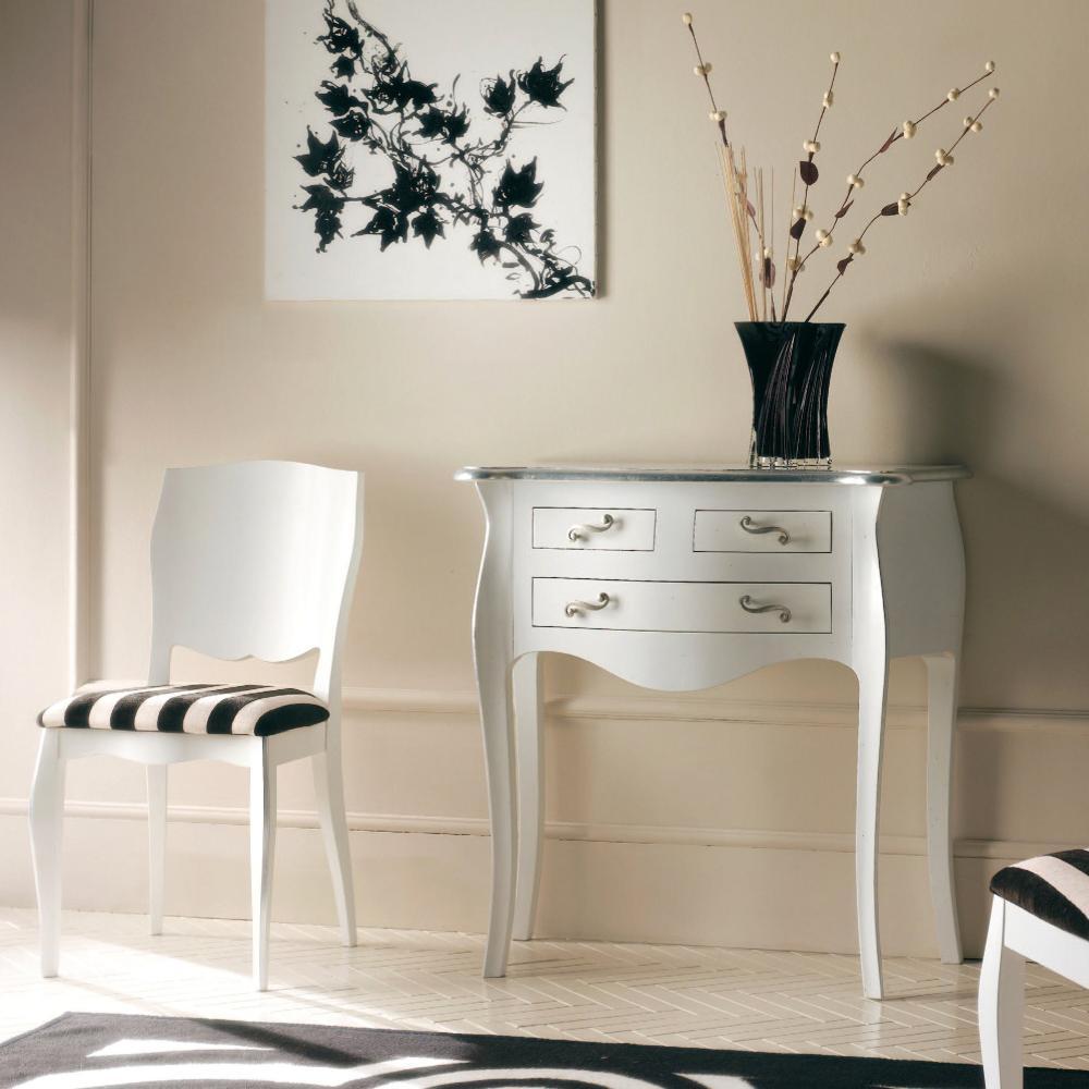 Shopping pentru casa ta: 15 comode cu un design aparte: Consola cu 3 sertare si foita de argint - 724/G