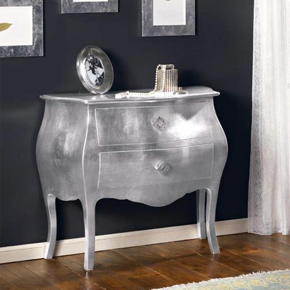 Shopping pentru casa ta: 15 comode cu un design aparte: Comoda curbata, cu foita de argint