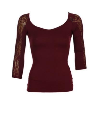 MARSALA - Culoarea Anului 2015. Cum sa adaugi in garderoba ta marsala: Bluza Bershka Colle Dark Red