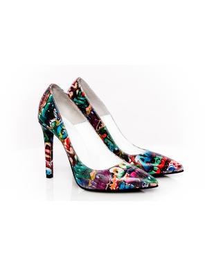 Shopping: 24 de perechi de Pantofi cu toc pentru aceasta primavara: Pantofi multicolori Grafitti Ghetto, The 5th Element