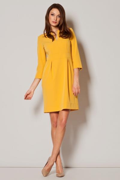 Tinuta de Pasti: 16 sugestii de rochii pentru a arata impecabil in ziua de Pasti: Rochie galbena