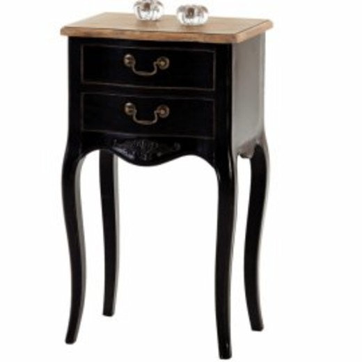 romy 2 sertare negru piese de mobilier negre. Black Bedroom Furniture Sets. Home Design Ideas