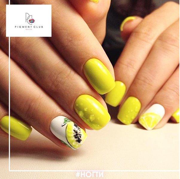 Manichiura de vara inspirata de fructe: 16 modele delicios de creative! - Manichiura cu lamai  - Slide 1 din 16