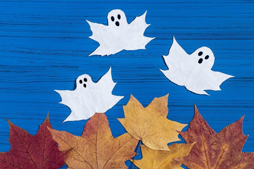 ATELIERUL DE CREATIE: 22 de idei pentru a realiza impreuna cu micutul tau adevarate Minunatii de Toamna: Fantomite din frunze
