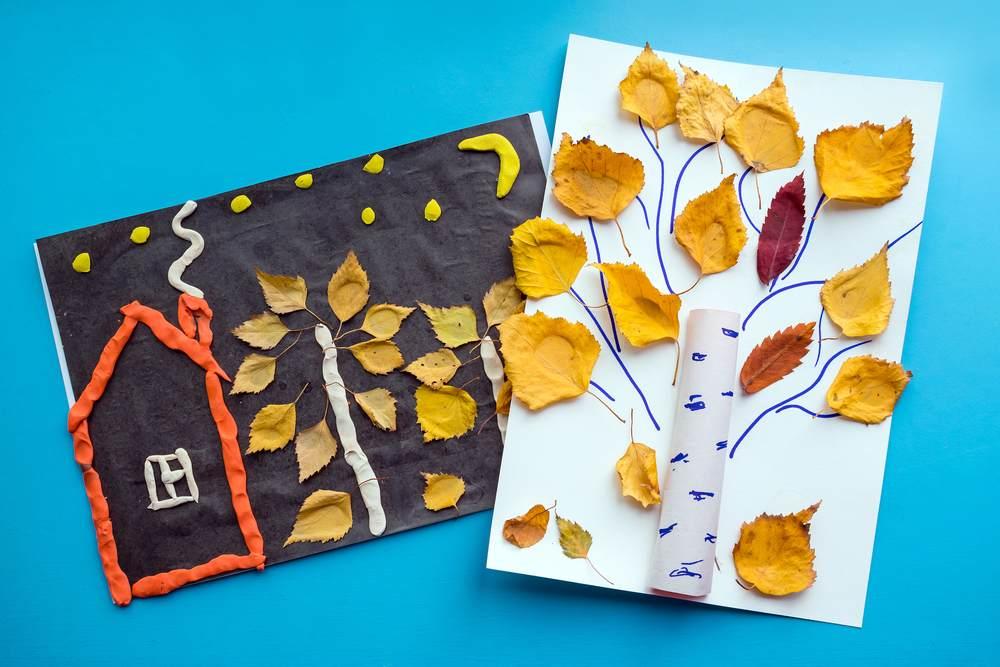ATELIERUL DE CREATIE: 22 de idei pentru a realiza impreuna cu micutul tau adevarate Minunatii de Toamna: Copacei cu frunze adevarate