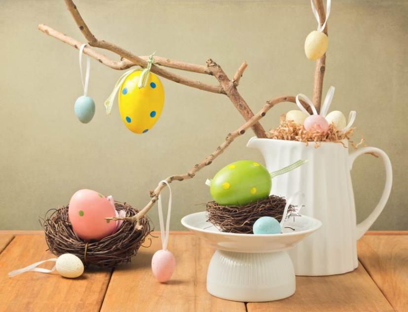 Idei super creative pentru masa de Paști: 17 Decorațiuni din Ouă și Coji de ouă: Pomul de Pasti