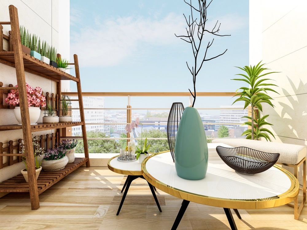 Balconul, oaza zilnica de relaxare. 16 Idei ca sa aduci natura pe balconul tau: Dulapul de ghivece cu plante si flori
