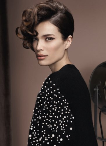 Coafuri frantuzesti in tendinte in 2012: Coafura glamour