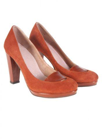 In tendinte: 25 de modele de pantofi superbi, cu toc: Pantofi Thea Visconti CHIARA cognac