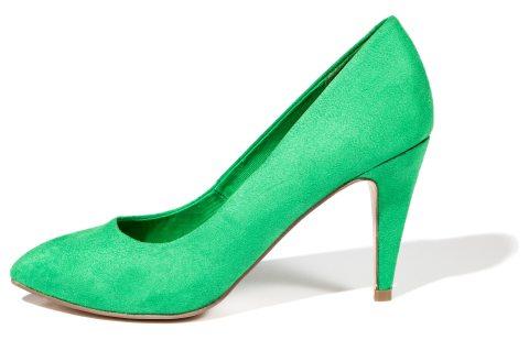 In tendinte: 25 de modele de pantofi superbi, cu toc: Pantofi intr-o nuanta de verde crud