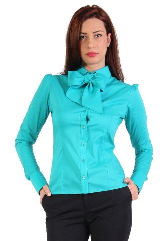 29 de bluze si camasi elegante pentru toate gusturile: Camasa office turcoaz