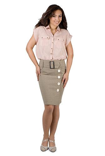 Moda accesibila: 21 de piese vestimentare si accesorii ieftine, sub 100 de RON: Fusta office pentru vara