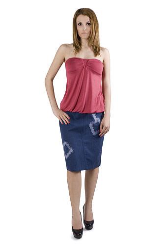 Moda accesibila: 21 de piese vestimentare si accesorii ieftine, sub 100 de RON: Fusta de in albastra