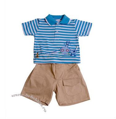 15 Hainute de vara irezistibile pentru copilul tau: Costumas cu vacuta albastru