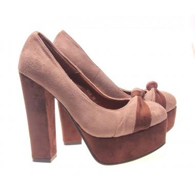 Incaltaminte in tendinte la preturi accesibile: Pantofi dama maro Tent