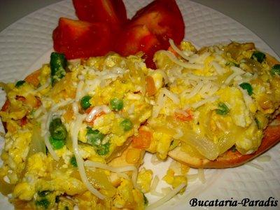 Mic dejun copios: 5 retete de omleta, Omleta cu legume